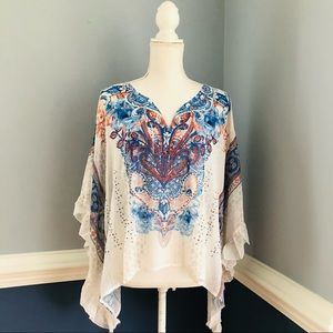 Style & Co see-through top/cover up